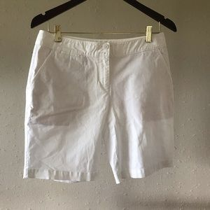 Tommy Bahama white Bermuda shorts